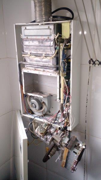 Conserto de aquecedor a gás
