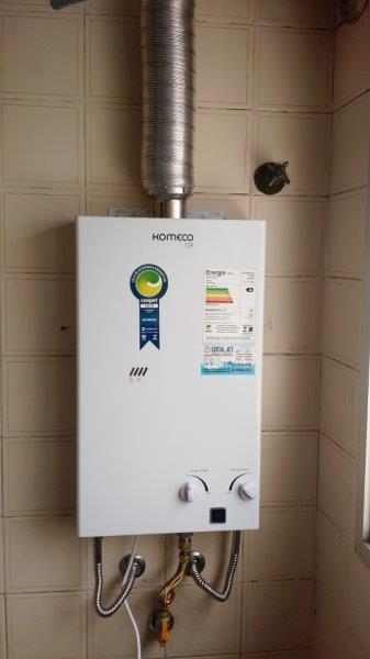 Serviço de instalação de aquecedor a gás