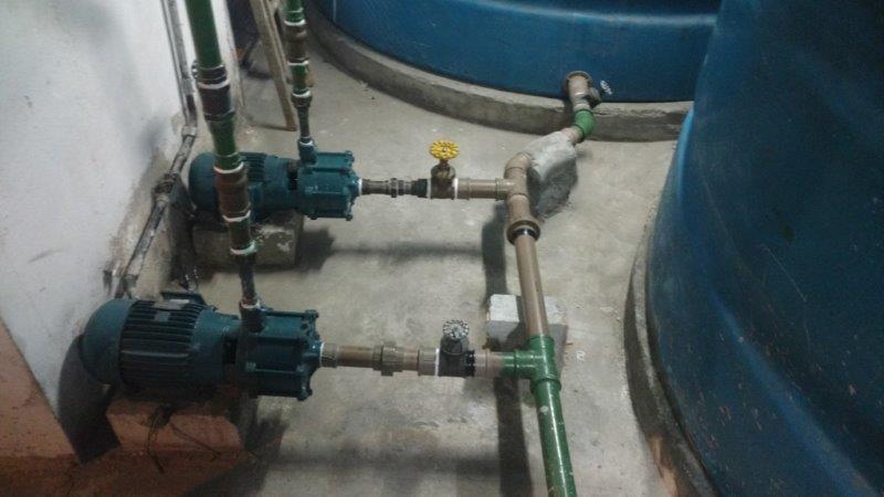 Conserto de pressurizador de água