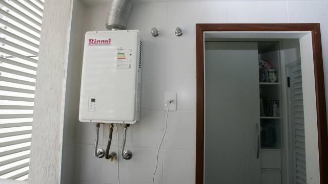 Instalação de aquecedor a gás em apartamento