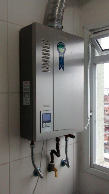 Instalação e manutenção de aquecedores a gas